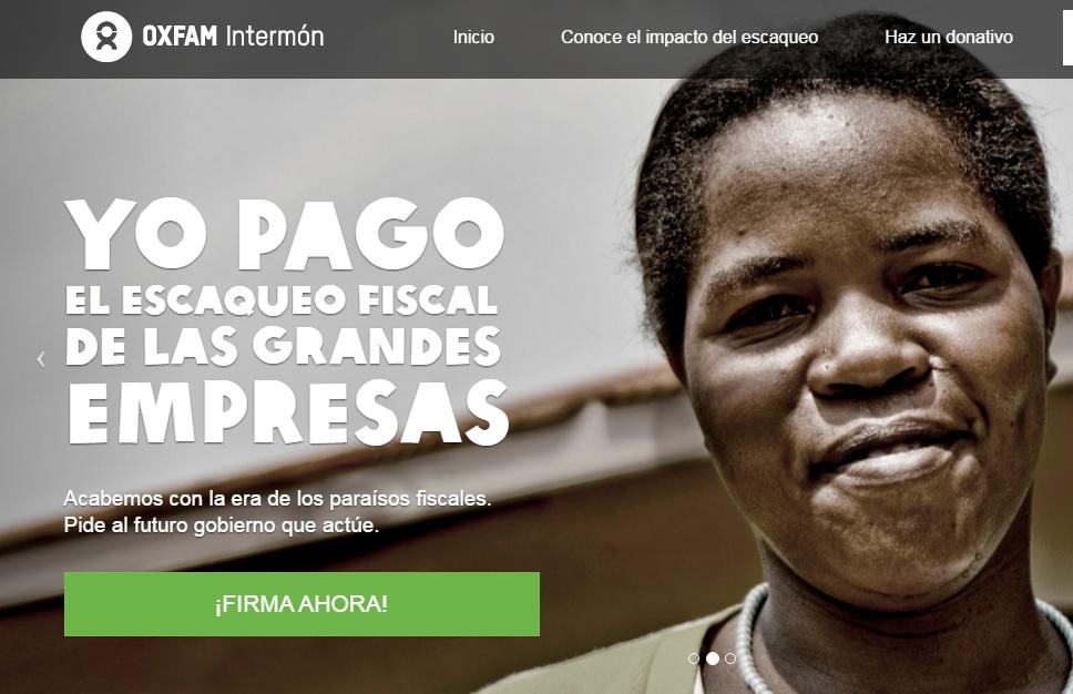 Di NO al #EscaqueoFiscal, la nueva campaña de Oxfam Intermón