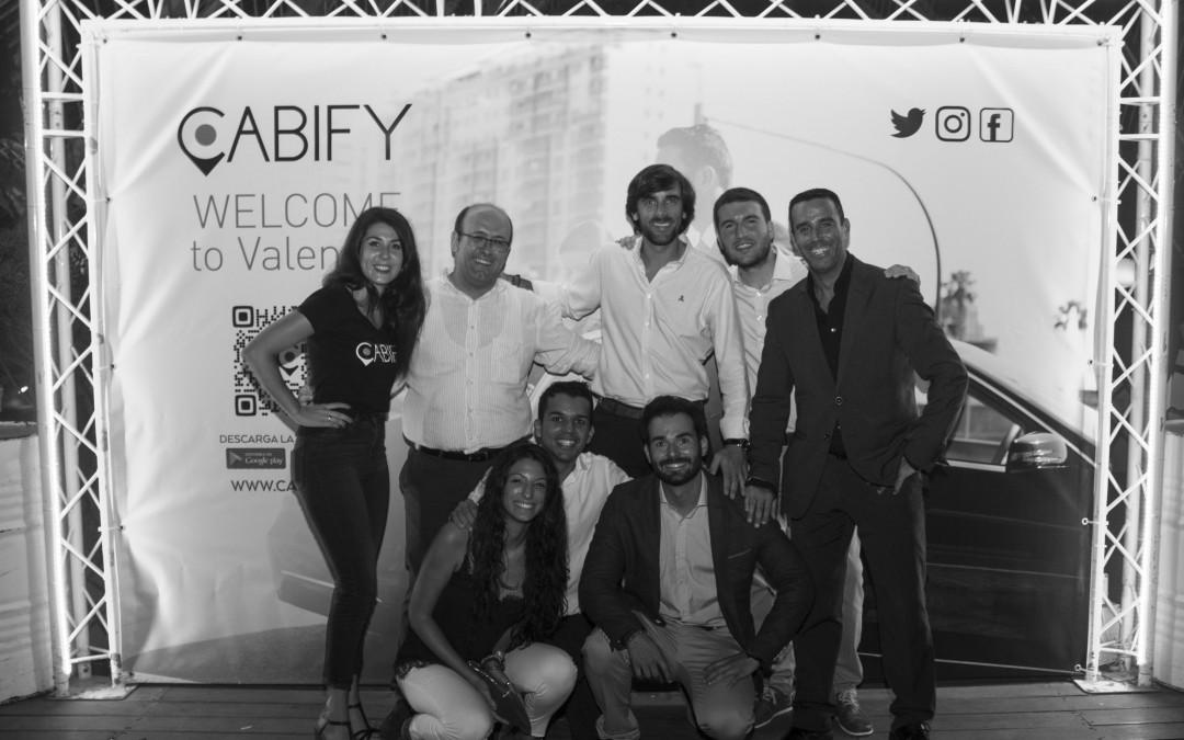 Evento presentación de Cabify en la terraza Umbracle de Valencia
